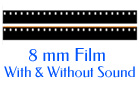 8mm Film With and without sound